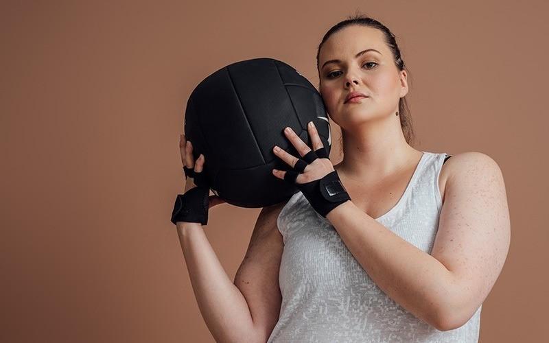 femme prête à faite du sport