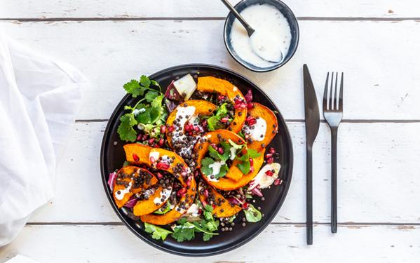 salade automnale avec potiron