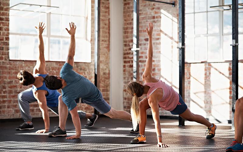 exercice mobilité en groupe