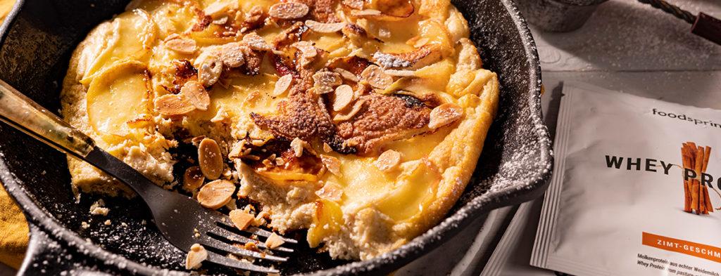Jugosa tortita de manzana