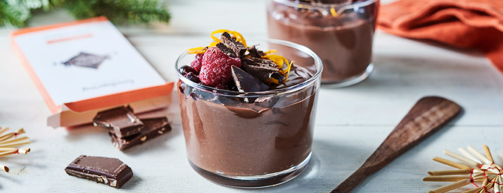 Pudding de chocolate proteico