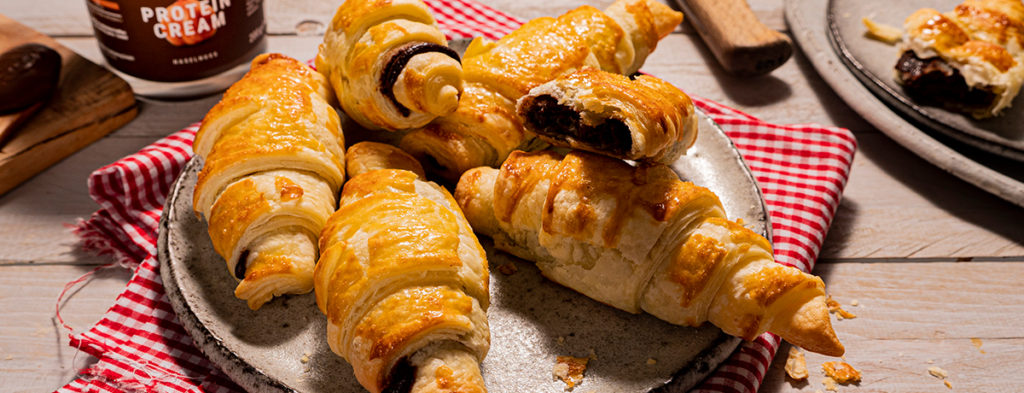 Deliciosos croissants de chocolate