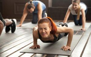 Ejercicios en el gimnasio