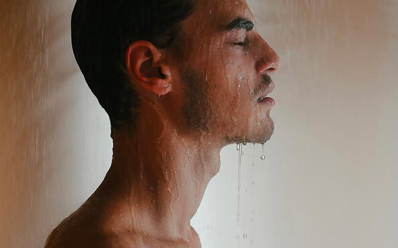 ducha fria para los musculos