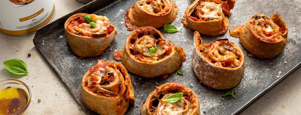 receta rollitos pizza
