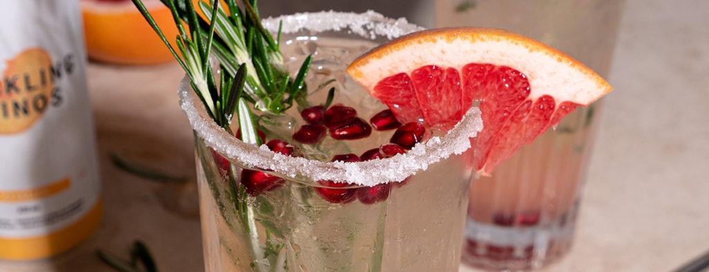 cocktail sans alcool au pamplemousse