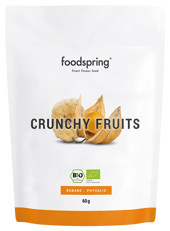 foodspring Crunchy Fruits Banane-Physalis