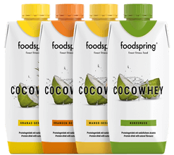 CocoWhey 4 Portion Trial Pack The isotonic protein drink