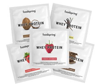 Whey Protein taster pack Whey formula for optimised muscle building.
