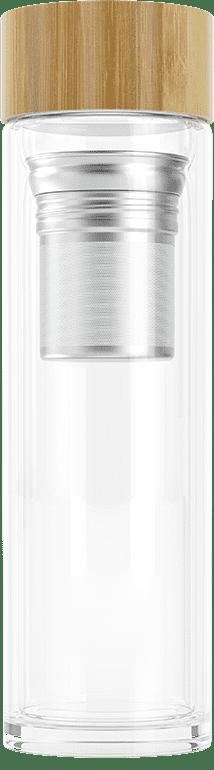 Tea Infuser Bottle (stainless steel, grey)