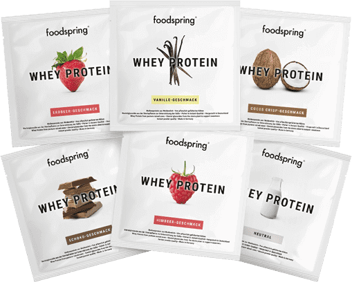 Whey Protein taster portion Portable sachets of your favorite flavor