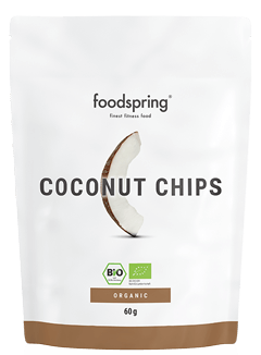Coconut Chips Fitness-snacks direkt från palmen.
