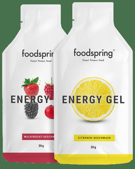 Energy Gel Extra-Ausdauer zum Schlucken.
