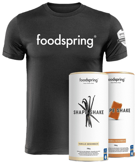 #foodspringfamily Paket Shape Inkl. official foodspring T-Shirt - Limited Edition