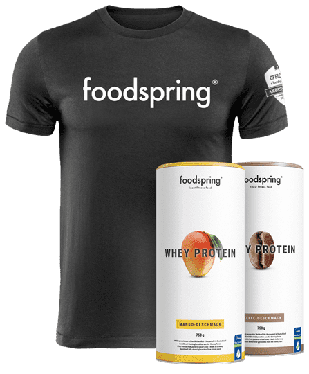 #foodspringfamily Paket Whey Inkl. official foodspring T-Shirt - Limited Edition