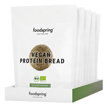 Pain protéiné vegan en paquet de5 5 délicieux pains protéinés. Vegan et sans gluten.