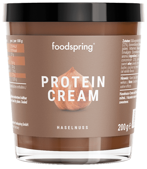 Protein Cream Chocolate spread with 85% less sugar.
