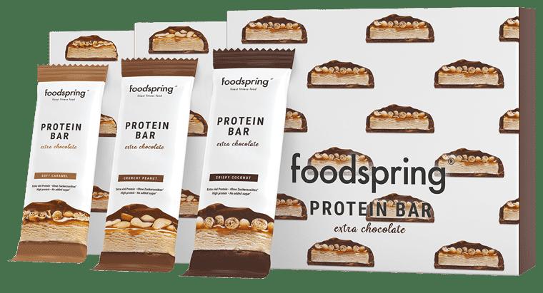 Protein Bar Extra Chocolate 12-Paket Echter Schokoriegel. Aber 90% weniger Zucker.