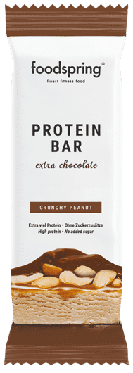 Extra Chocolate Protein Bar Real chocolate bar, but 90% less sugar.