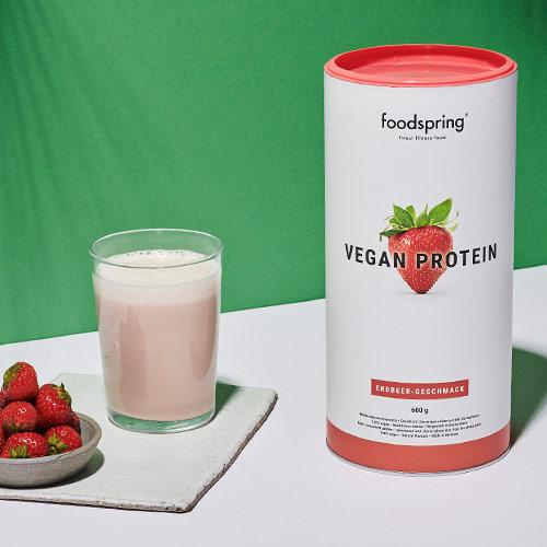 Vegan Protein Erdbeere Dose