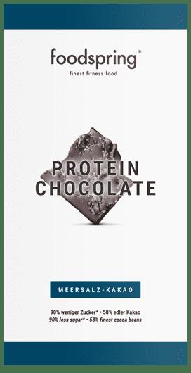 Chocolate proteico 90% menos azúcar. Chocolate premium.