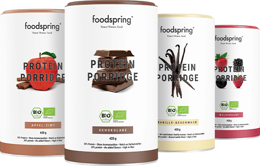 Protein porridge Less added sugar, more authentic flavor