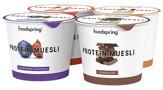 Protein Muesli To Go 4-Pack Protein Muesli with fine flake soy.