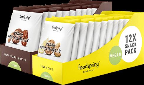 Vegan Protein Balls 12-Pakket Een zoete vegan snack voor onderweg
