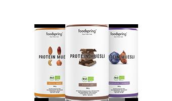 Muesli Proteico Muesli Proteico con fiocchi di soia finissimi.