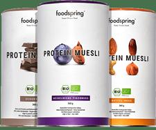 Muesli Proteico Muesli proteico con copos finos de soja.
