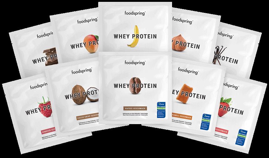 Protéine Whey Échantillon Pack de 10