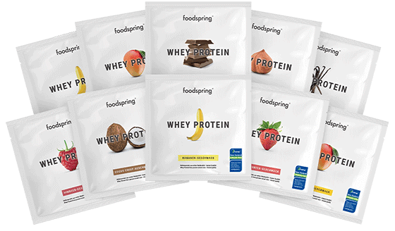Whey Protein To Go 10-Pack Portable sachets of your favorite flavors
