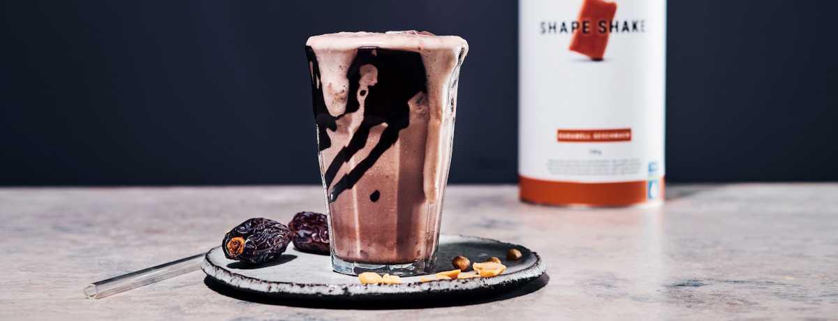 Cremiger Karamell Schoko Protein Shake