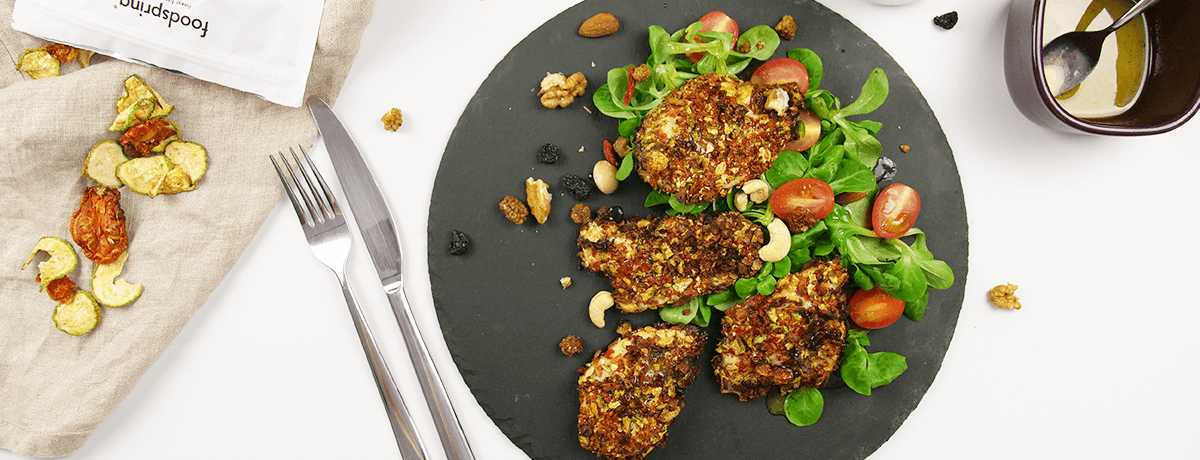 Hähnchen mit Crunchy Veggie Panade