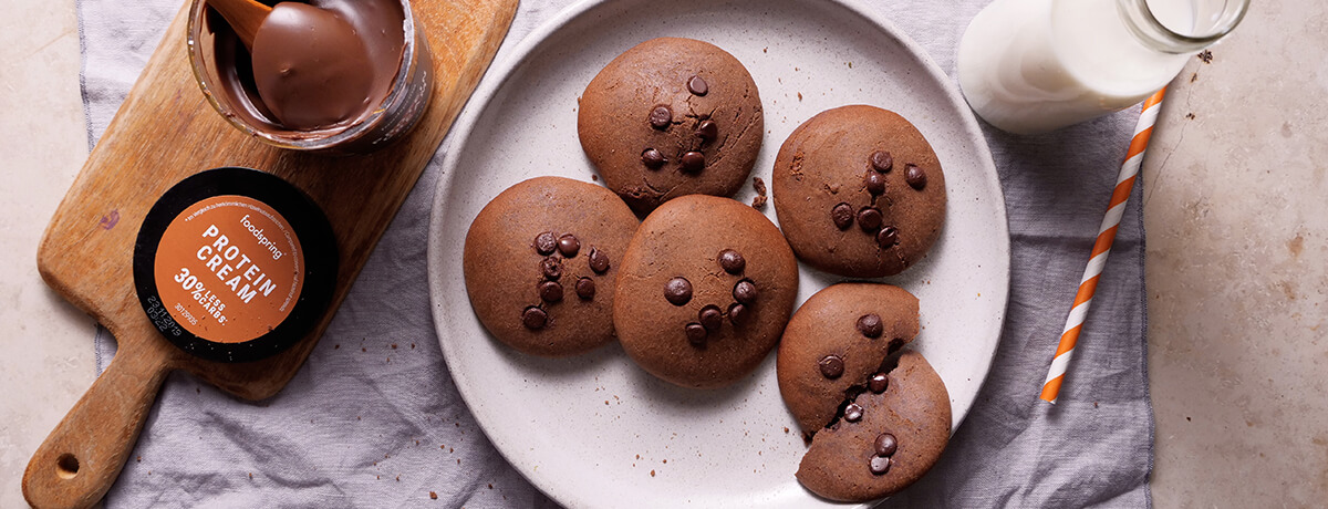 Biscuits à la pâte à tartiner protéinée