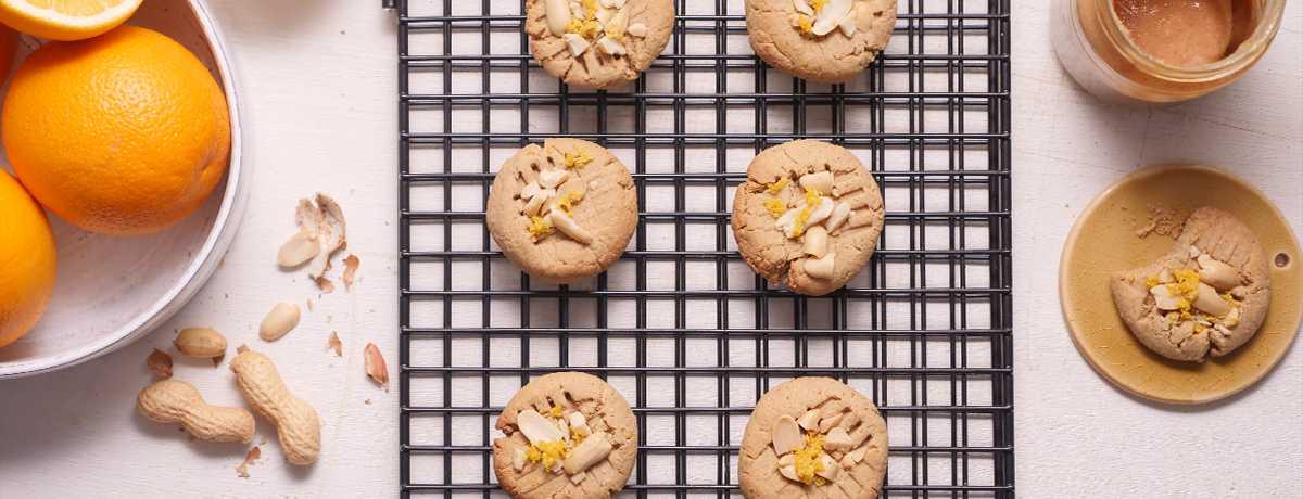 Vegane Erdnussbutter Orangen Kekse