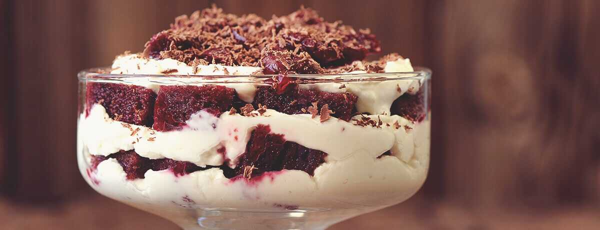 Low fat cherry peach tiramisu