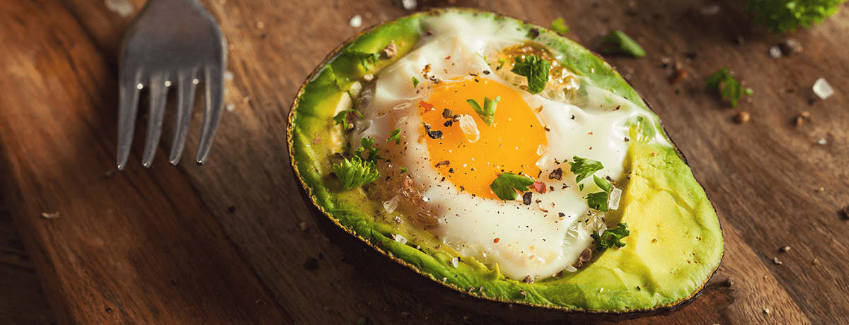 Fried egg avocado