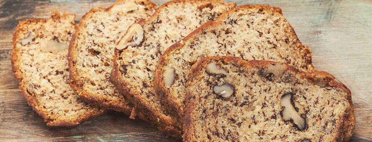 Low-carb walnut bread