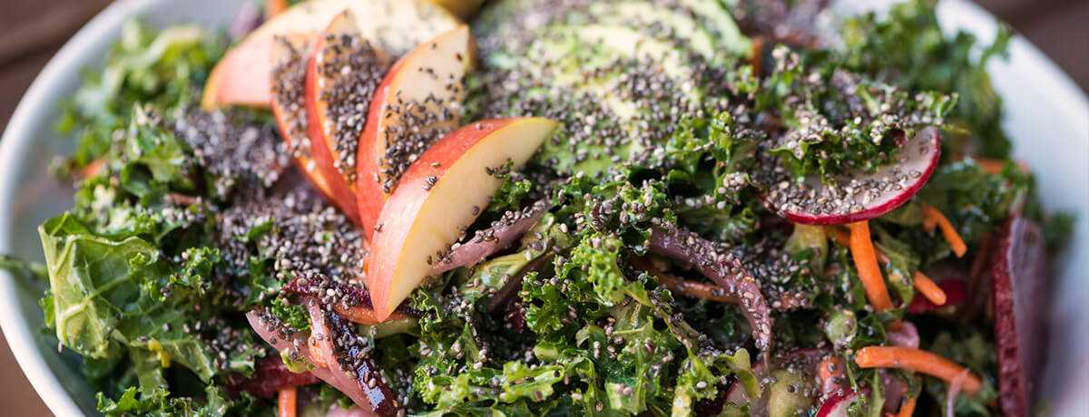 Superfood curly kale salad