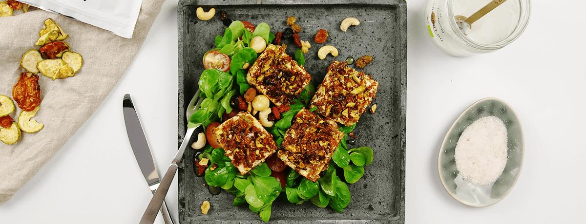 Tofu mit Crunchy Veggie Panade