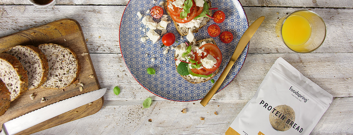 Low Carb Brot Tomate Feta