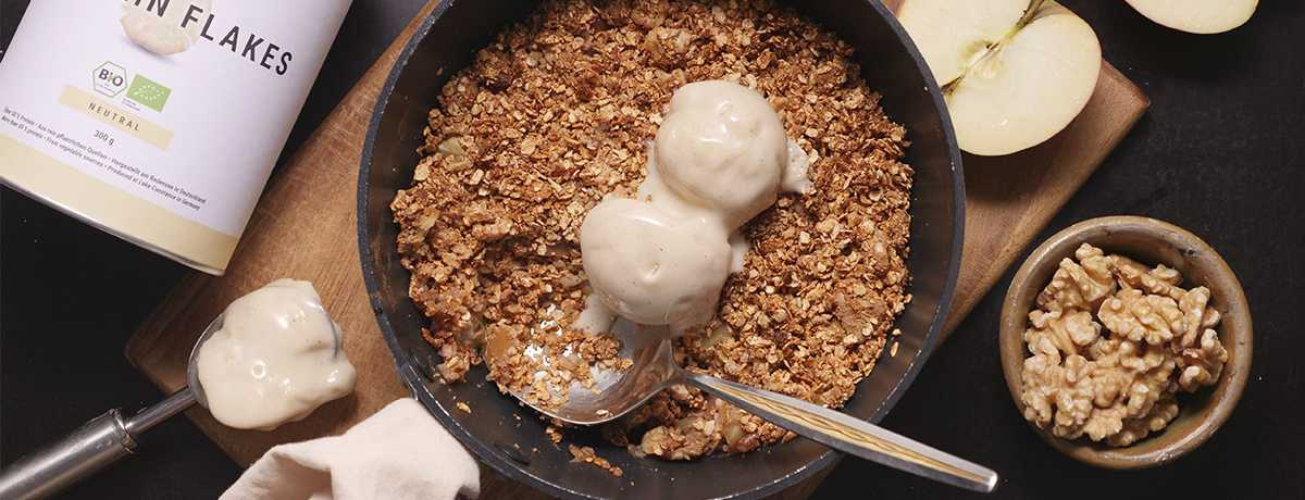 Low Carb Apple Crumble