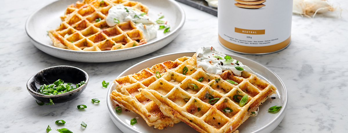 Savory Waffles with Mozzarella