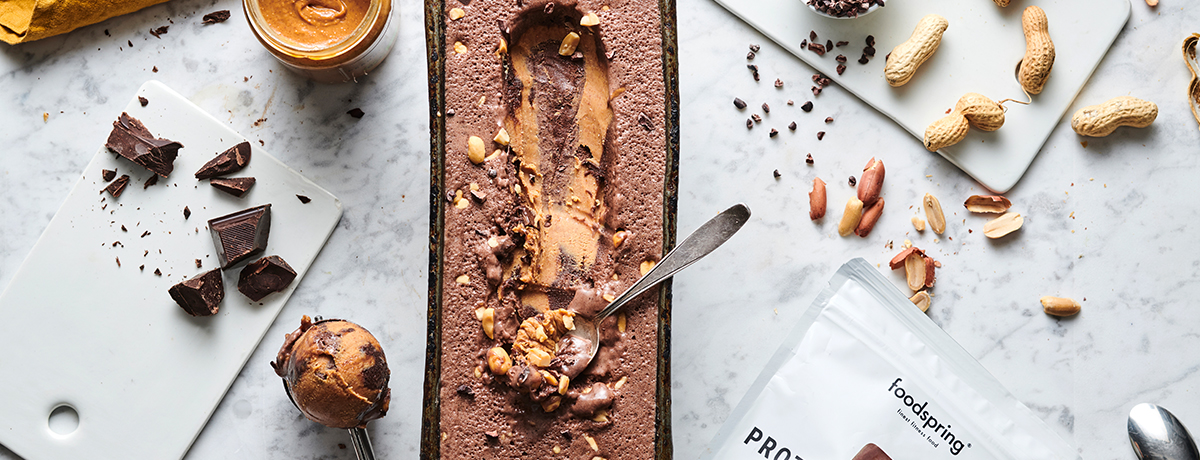 Chocolate-peanut butter protein ice cream