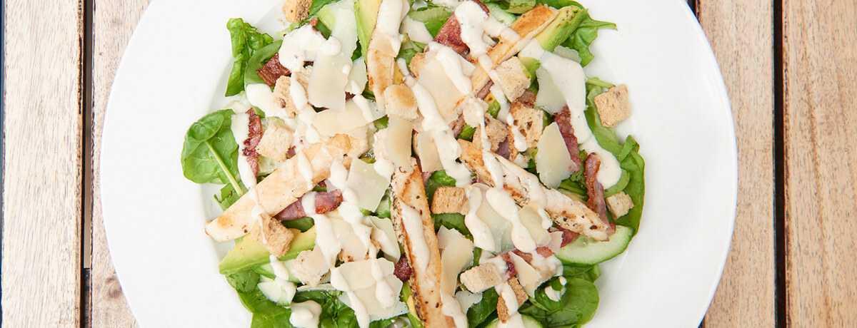 Salat mit Hünchenbrust oder Tofu