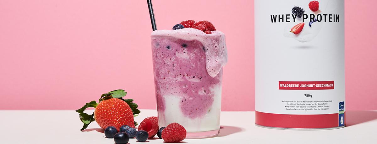 Krämig Shake med smak av jordgubb