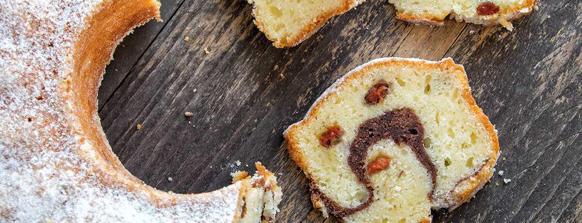 Gâteau marbré protéiné pauvre en glucides