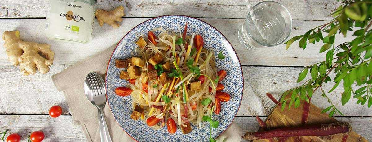 Glass Noodle Salad with Smoked Tofu