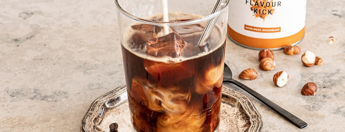 Haselnuss Eiskaffee Rezept